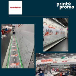 Adesivi per allestimento negozio MediaWorld Genova